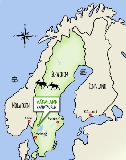 Karte Norwegen Schweden.Anfahrt Und Karte